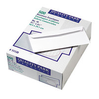 Quality Park 11130 Park Ridge #10 4 1/8 inch x 9 1/2 inch White Gummed Seal Embossed Executive Business Envelope - 500/Box