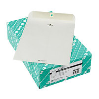 Quality Park 38590 #90 9 inch x 12 inch Executive Gray Kraft Clasp / Gummed Seal File Envelope - 100/Box