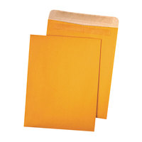 Quality Park 43511 #90 9 inch x 12 inch Recycled Brown Kraft File Envelope with Redi-Seal - 100/Box