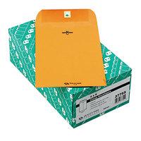 Quality Park 37755 #55 6 inch x 9 inch Brown Kraft Clasp / Gummed Seal File Envelope - 100/Box
