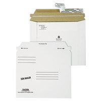 Quality Park 64117 Redi-Strip 7 1/2 inch x 6 1/16 inch Economy White Disk Mailer - 100/Case