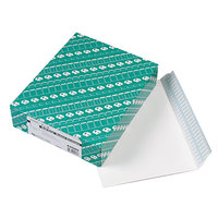 Quality Park 44580 #90 9 inch x 12 inch White Open Side File Envelope with Redi-Strip Seal - 100/Box