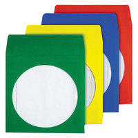 Quality Park 68905 5 3/4 inch x 5 3/4 inch Assorted Color CD / DVD Paper Sleeve   - 50/Box