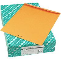 Quality Park 37810 #110 12 inch x 15 1/2 inch Brown Kraft Clasp / Gummed Seal File Envelope - 100/Box