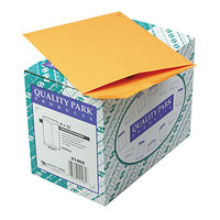 Quality Park 41465 #90 9 inch x 12 inch Brown Kraft Gummed Seal File Envelope - 250/Box