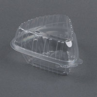 Dart Solo Showtime C54HT1 6 inch x 6 inch x 3 inch Clear Hinged Lid Pie Wedge Container - 250/Case