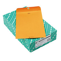 Quality Park 37894 #94 9 1/4 inch x 14 1/2 inch Brown Kraft Clasp / Gummed Seal File Envelope - 100/Box