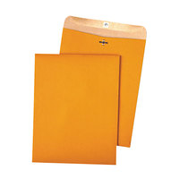 Quality Park 38712 #97 10 inch x 13 inch Recycled Brown Kraft Clasp / Gummed Seal File Envelope - 100/Box