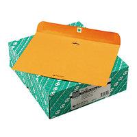 Quality Park 38090 Redi File #90 9 inch x 12 inch Brown Kraft Clasp / Gummed Seal File Envelope - 100/Box