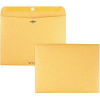 Quality Park 38090 Redi File #90 9 inch x 12 inch Brown Kraft Clasp / Gummed Seal File Envelope - 100/Box