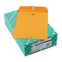 Quality Park 37787 #87 8 3/4 inch x 11 1/2 inch Brown Kraft Clasp / Gummed Seal File Envelope - 100/Box