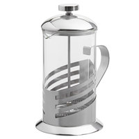 Choice 20 oz. Glass / Silver French Coffee Press