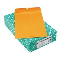 Quality Park 37798 #98 10 inch x 15 inch Brown Kraft Clasp / Gummed Seal File Envelope - 100/Box