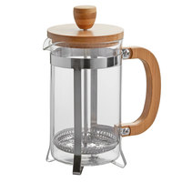 Choice 20 oz. Glass / Wood French Coffee Press