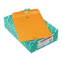 Quality Park 37793 #93 9 1/2 inch x 12 1/2 inch Brown Kraft Clasp / Gummed Seal File Envelope - 100/Box