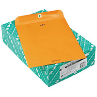 Quality Park 37793 #93 9 1/2 inch x 12 1/2 inch Brown Kraft Clasp / Gummed Seal File Envelope - 100/Box