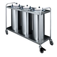 APW Wyott TL3-10 Trendline Mobile Unheated Three Tube Dish Dispenser for 9 1/4 inch to 10 1/8 inch Dishes