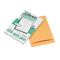 Quality Park 42355 Jumbo Size 15 inch x 20 inch Brown Kraft Fold Flap Seal File Envelope - 25/Pack