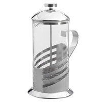 Choice 33 oz. Glass / Silver French Coffee Press