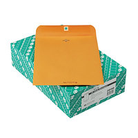 Quality Park 38190 #90 9 inch x 12 inch Recycled Brown Kraft Clasp / Gummed Seal File Envelope - 100/Box