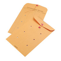 Quality Park 63564 #98 10 inch x 15 inch Brown Kraft Interoffice Envelope with String and Button Closure   - 100/Case