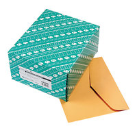 Quality Park 54300 #95 10 inch x 12 inch Brown Kraft Gummed Seal Open Side File Envelope - 100/Box