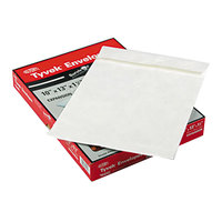 Survivor R4202 Tyvek® #97 10 inch x 13 inch x 1 1/2 inch White Expansion Mailer with Flap-Stick Self-Adhesive Seal   - 25/Box