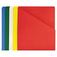 Quality Park 89503 Letter Size Slash-View File Pocket, Assorted Color - 25/Pack