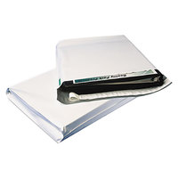 Quality Park 46390 Redi-Strip 11 inch x 13 inch x 2 inch White Poly Expansion Mailer - 100/Case