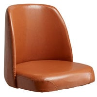 Lancaster Table & Seating Deluxe 19 inch Wide Brown Barstool Bucket Seat