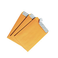 Quality Park 44162 #55 6 inch x 9 inch Brown Kraft File Envelope with Redi-Strip Seal - 100/Box