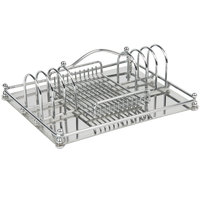 Bon Chef S10FC Stainless Steel Chrome Plated Flatware Caddy with Solid Stainless Steel Bottom