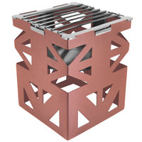 Eastern Tabletop 1742CP LeXus 8 inch x 8 inch x 10 inch Copper Coated Steel Cube with Grate and Fuel Shelf