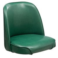 Lancaster Table & Seating Deluxe 19 inch Wide Green Barstool Bucket Seat