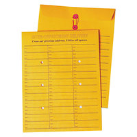 Quality Park 63562 #97 10 inch x 13 inch Brown Kraft Interoffice Envelope with String and Button Closure - 100/Box