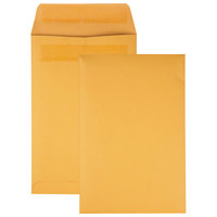 Quality Park 43167 #55 6 inch x 9 inch Brown Kraft File Envelope with Redi-Strip Seal - 100/Box