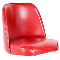 Lancaster Table & Seating Deluxe 19 inch Wide Crimson Barstool Bucket Seat