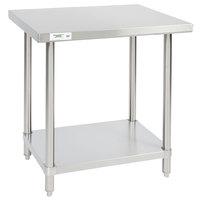 Regency 24 inch x 30 inch 16-Gauge 304 Stainless Steel Commercial Work Table with Undershelf