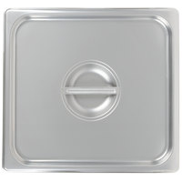 Choice 2/3 Size Stainless Steel Solid Steam Table / Hotel Pan Cover