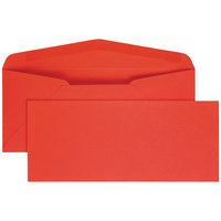 Quality Park 11134 #10 4 1/8 inch x 9 1/2 inch Red Gummed Seal Business Envelope - 25/Pack