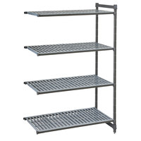 Cambro CBA184864V4580 Camshelving® Basics Plus Vented 4-Shelf Add On Unit - 18 inch x 48 inch x 64 inch