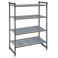 Cambro CBU246064V4580 Camshelving® Basics Plus Vented 4-Shelf Stationary Starter Unit - 24 inch x 60 inch x 64 inch