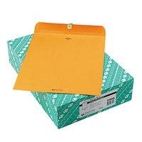 Quality Park 37805 #105 11 1/2 inch x 14 1/2 inch Brown Kraft Clasp / Gummed Seal File Envelope - 100/Box