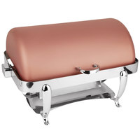 Eastern Tabletop 3114CP Park Avenue 8 Qt. Rectangular Copper Coated Stainless Steel Roll Top Chafer