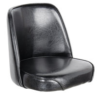 Lancaster Table & Seating Deluxe 19 inch Wide Black Barstool Bucket Seat