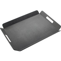 Cal-Mil 958-2-13 16 inch x 13 inch Black Room Service Tray with Raised Edges