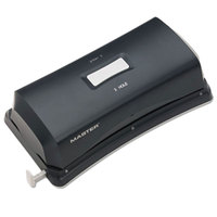 Master EP323 Duo 15 Sheet Black Electric / Battery 2-to-3 Hole Punch - 9/32 inch Holes