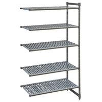Cambro CBA244264V5580 Camshelving® Basics Plus Vented 5-Shelf Add On Unit - 24 inch x 42 inch x 64 inch
