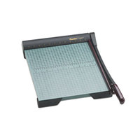 Premier W15 15 inch x 12 1/2 inch 20 Sheet GreenBoard Paper Trimmer with Wood Base