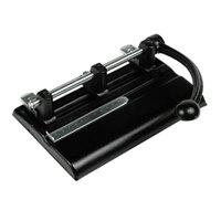 Master 1340PB 40 Sheet Black 2-to-7 Hole Punch - 13/32 inch Holes